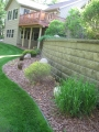 Retaining Wall with Beds